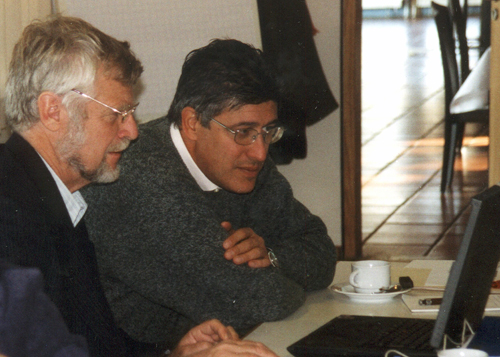 Jan Jellema (TNO-NITG, Netherlands) and Marco Amanti (APAT, Italy) at MTG kick off meeting in Burgdorf, Hannover, October 2003